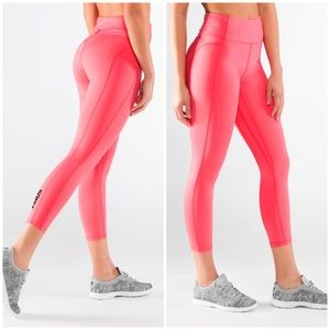 Virus pink high rise compression workout leggings